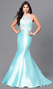 Long Mermaid Prom Dress with Bead-Embellished Bodice