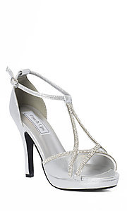 Open Toe Silver Shimmer Touch Ups Heel