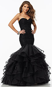 Mori Lee Mermaid Style Lace Prom Dress