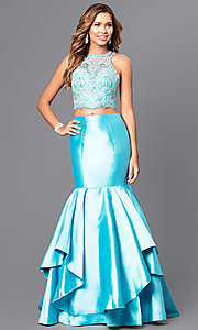 Beaded Top Two-Piece Mermaid Prom Dress