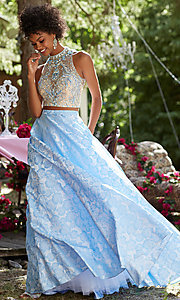 Open Back Sleeveless A-Line Prom Dress