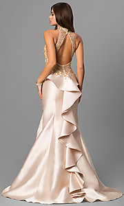 High Illusion Sweetheart Long Prom Dress