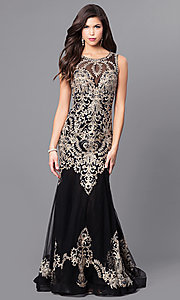 Long Prom Dress by Elizabeth K with Lace Applique