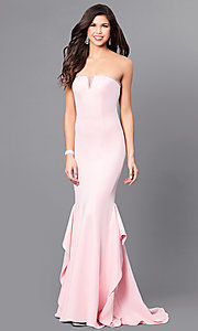 Long Elizabeth K Prom Dress with Beading