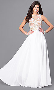 Beaded Bodice Long Elizabeth K Prom Dress