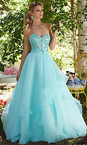 Ball Gown Style Prom Dress with Bow
