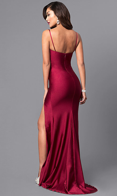 Open-Back Sweetheart Long Prom Dress - PromGirl