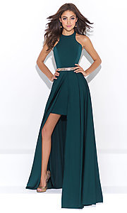 High Neck Halter Open Back Prom Dress