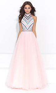 A-Line Long Open Back Madison James Prom Dress