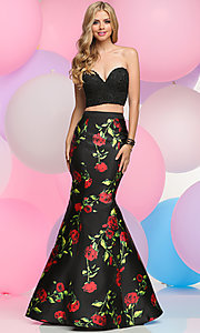 Two-Piece Strapless Sweetheart Mermaid Prom Dress