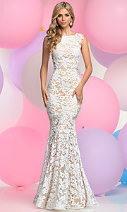 Long Lace Prom Dress with Mermaid Skirt