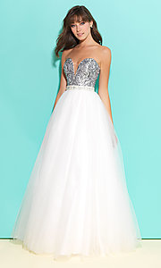 A-Line Prom Dress with Printed Bust