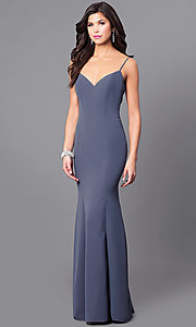 Long Mermaid Prom Dress with a Wide V-Neck