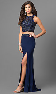 Two Piece Primavera Sleeveless Prom Dress
