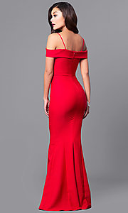 Image of long sweetheart neckline off-the-shoulder prom dress. Style: MCR-1562 Back Image