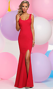 Scoop Neck Prom Dress with Lace Back