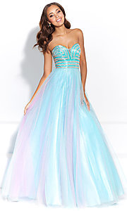Long Ball Gown Style Ombre Prom Dress
