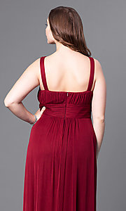Image of sweetheart long plus prom dress with empire waist. Style: DQ-8115P Detail Image 2
