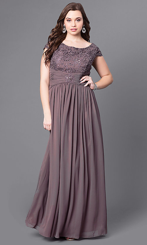 Plus Size Lace Formal Dresses