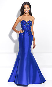 Mermaid Strapless Prom Dress by Madison James