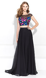 Black Two-Piece Long Prom Dress