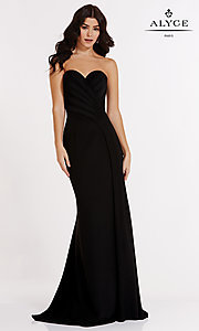 Open Back Strapless Alyce Prom Dress