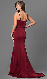 Image of long elegant prom dress by Dave and Johnny. Style: DJ-A5223 Back Image