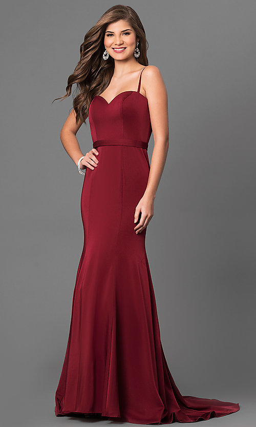 Image of long elegant prom dress by Dave and Johnny. Style: DJ-A5223 Front Image