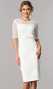 Short Graduation Party Dress with Elbow-Length Sleeves