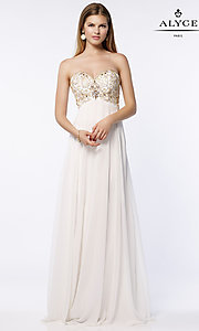 Long Empire Waist Chiffon Prom Dress