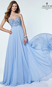 Long Empire Waist Alyce Prom Dress
