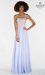 Chiffon Alyce Long Strapless Prom Dress