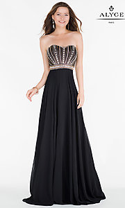 Long Chiffon Open Back Prom Dress by Alyce