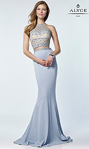 Jersey Alyce Prom Dress with an Open Back