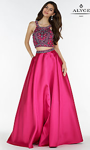 Alyce Ball Gown Style Two Piece Prom Dress