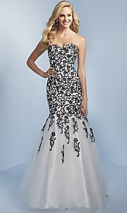 Long Mermaid Prom Dress with Strapless Sweetheart
