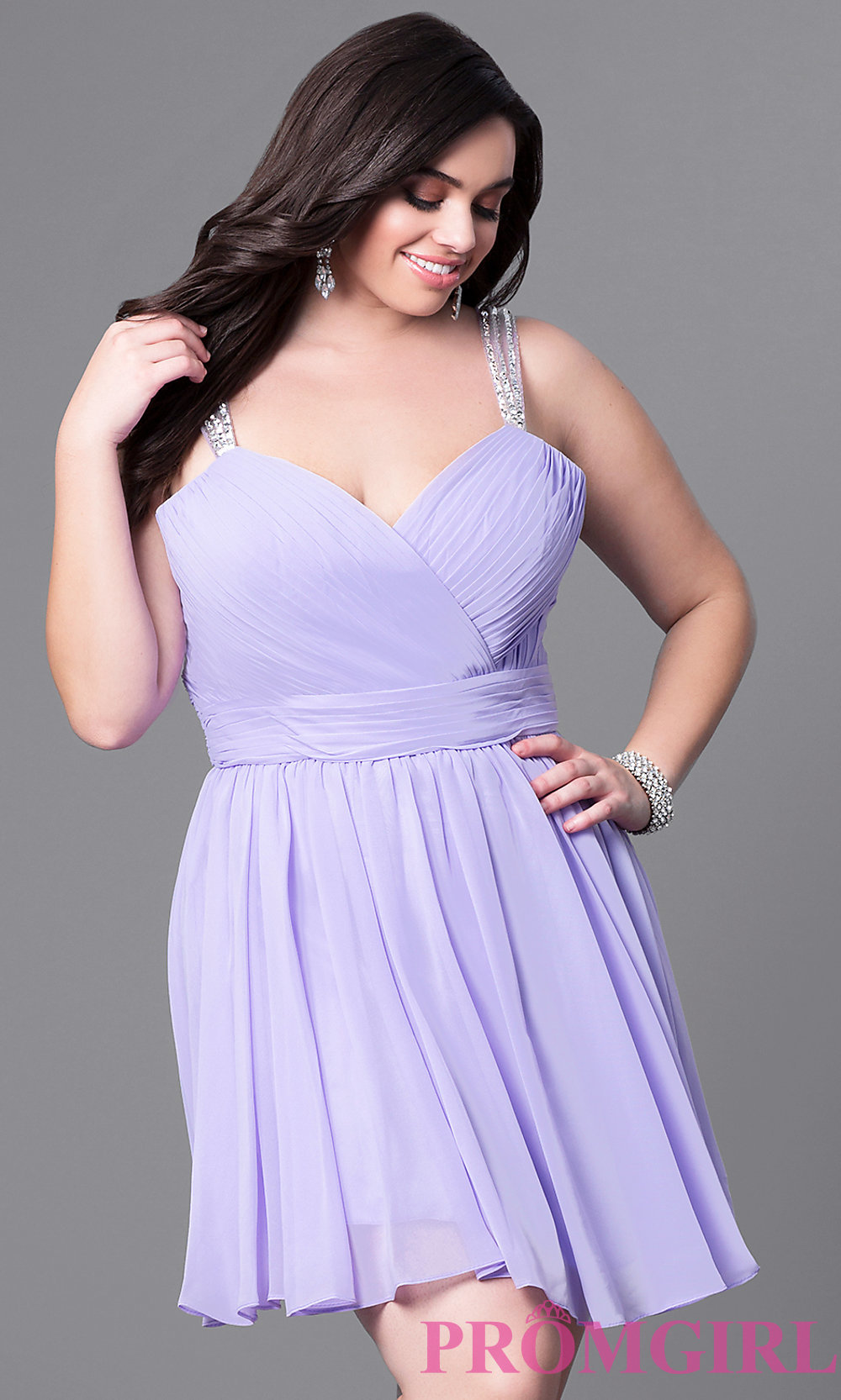 Sweetheart Corset Short Plus-Size Dress - PromGirl