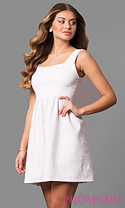 Short Lace Empire-Waist Casual Party Dress