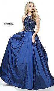 A-Line Halter Prom Dress by Sherri Hill