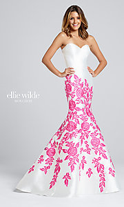 Strapless Ellie Wilde Long Prom Dress