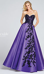 Strapless Sweetheart Embroidered Prom Dress