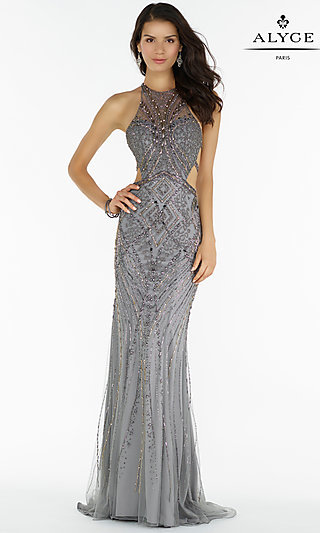 Silver Evening Gowns, Silver Sequin Dresses - p1 (by 32 - high price)