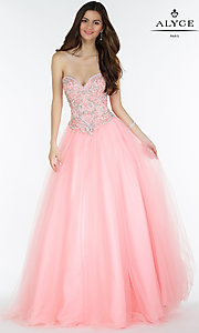 Ball Gown Style Corset Back Long Prom Dress