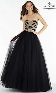 Strapless Sweetheart Corset Back Long Prom Dress