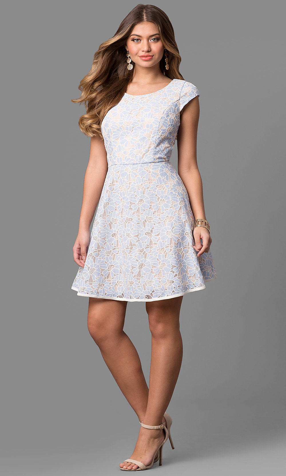 f28a8fd09dc Short White Lace Dress With Cap Sleeves - Data Dynamic AG