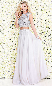 Two-Piece Chiffon Long Prom Dress by Shail K