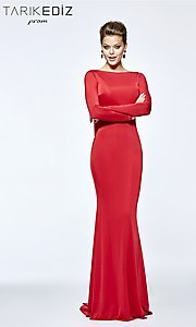 Long Sleeve Tarik Ediz Prom Dress