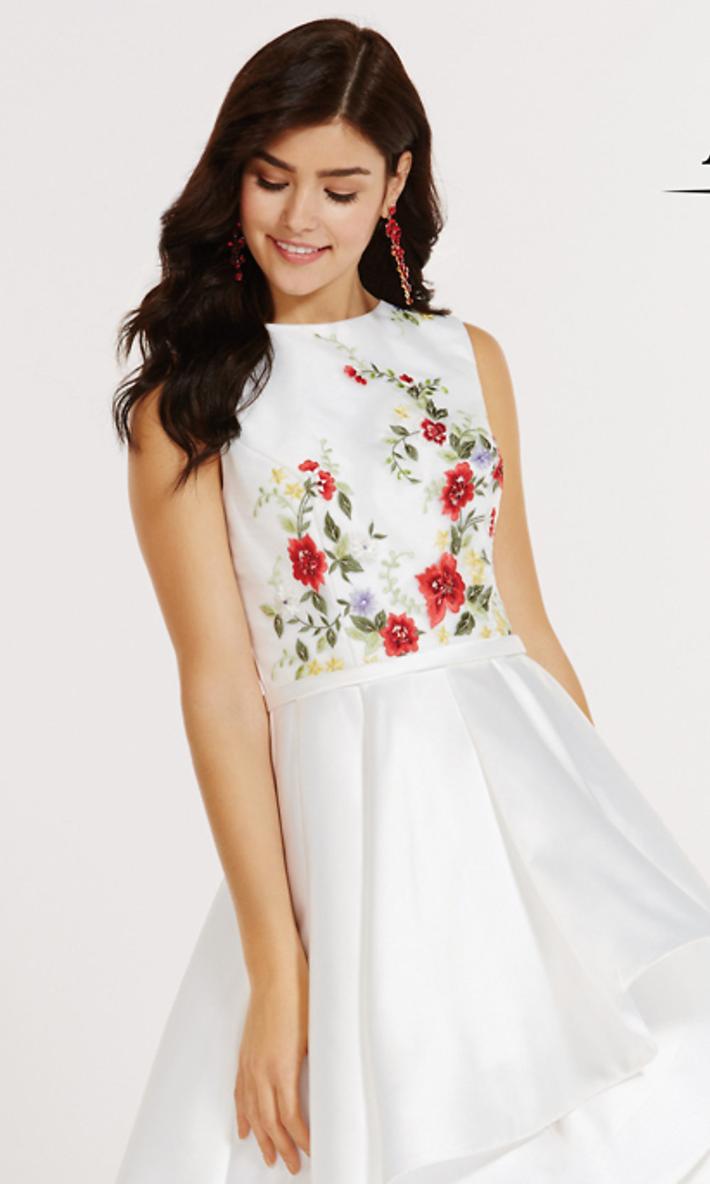 High low alyce prom dress with embroidery promgirl hover to zoom ombrellifo Image collections