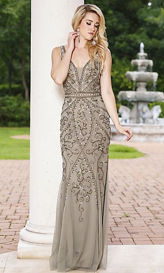 Gold Prom Dresses, Gold Formal Gowns - PromGirl