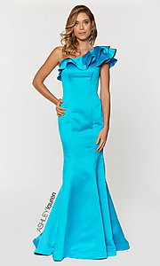 Ruffle One Shoulder ASHLEYlauren Prom Dress